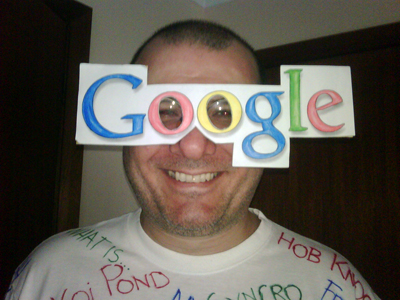 Wearing a Google mask requires vision!